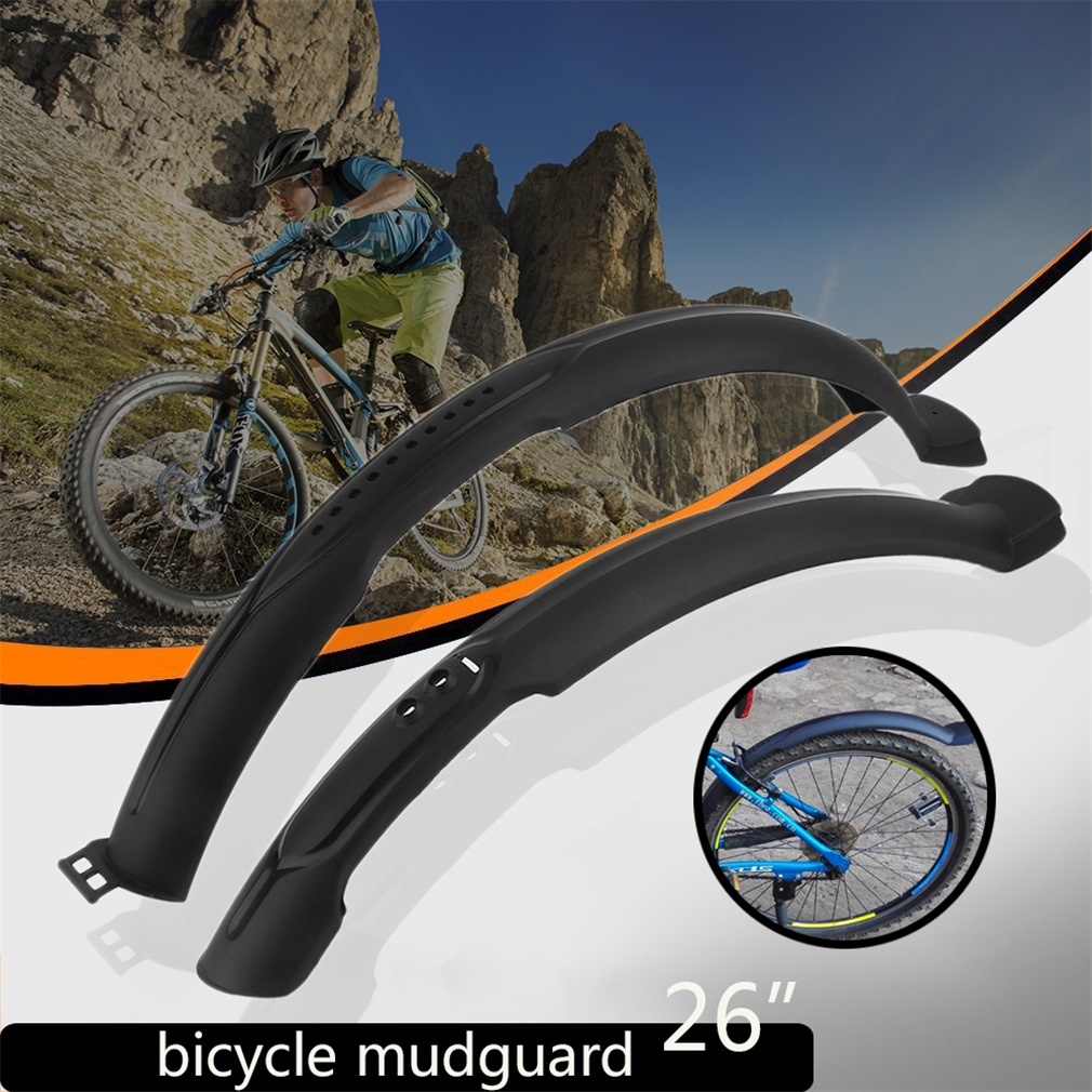 fahrrad schutzblech set steckblech mtb blech spritzschutz schwarz 26 zoll top ebay. Black Bedroom Furniture Sets. Home Design Ideas