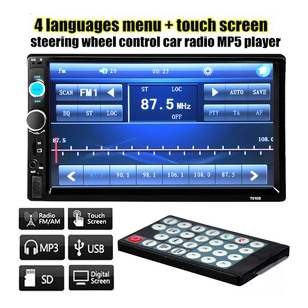 Car Audio 7in HD Radio In Dash Touch Screen Stereo MP3 MP5
