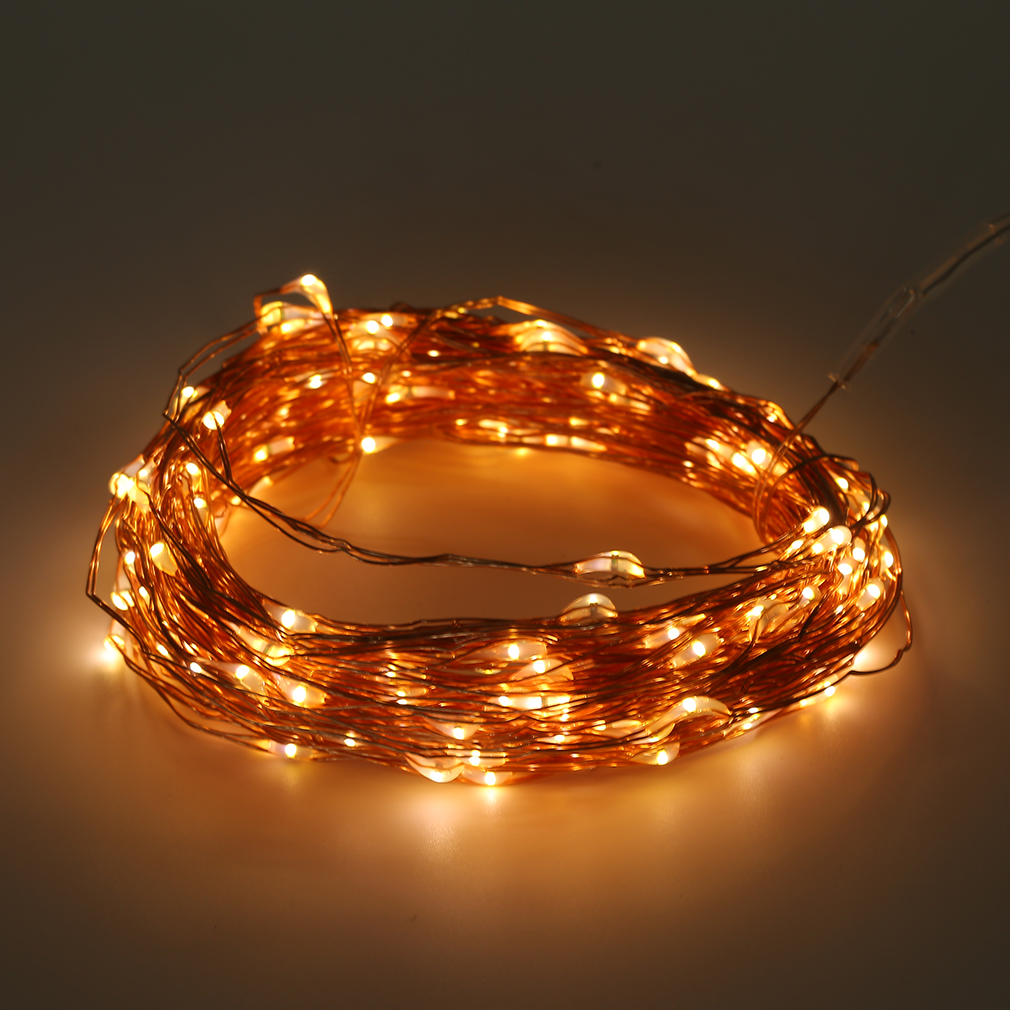 Copper String Lights Solar : Solar Powered Warm White 20M 200LED Copper Wire Outdoor String Fairy Light FT eBay