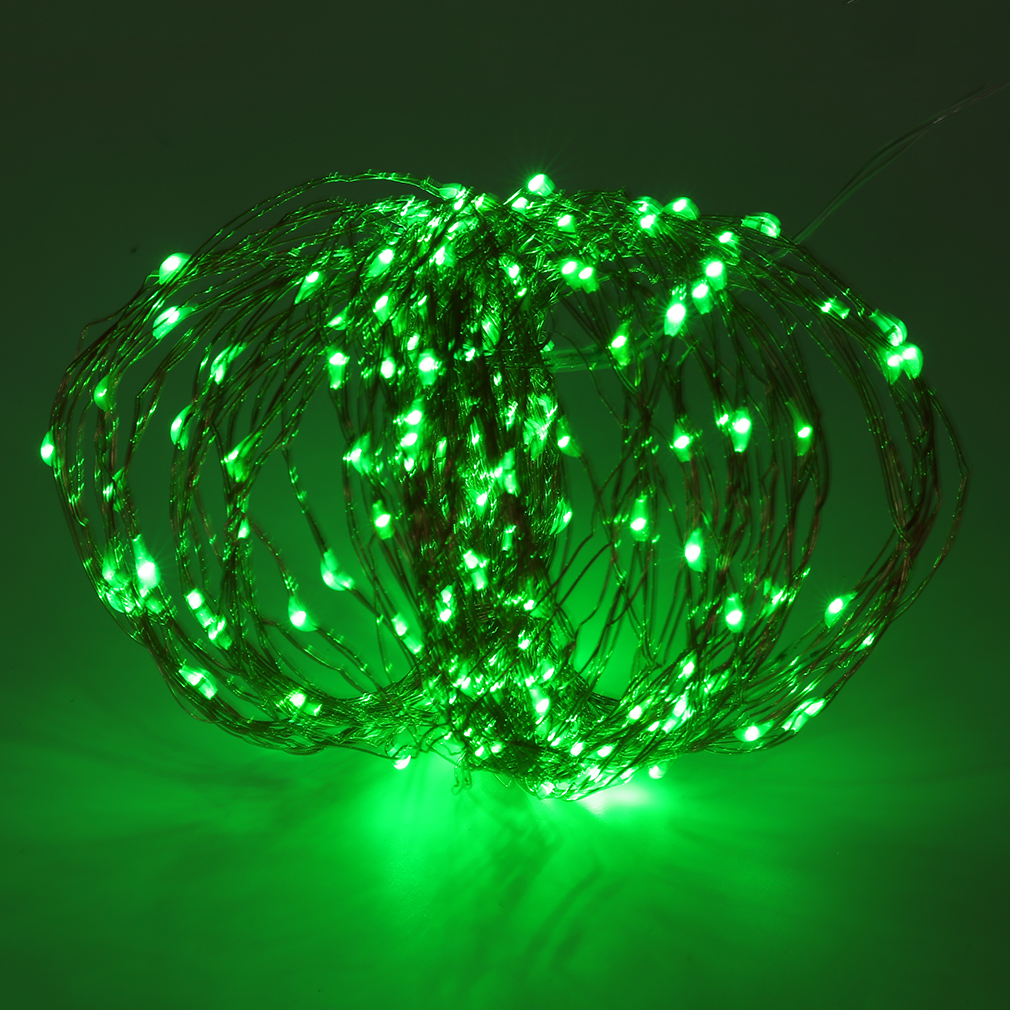 Solar Powered Warm White 20M 200LED Copper Wire Outdoor String Fairy Light LC eBay
