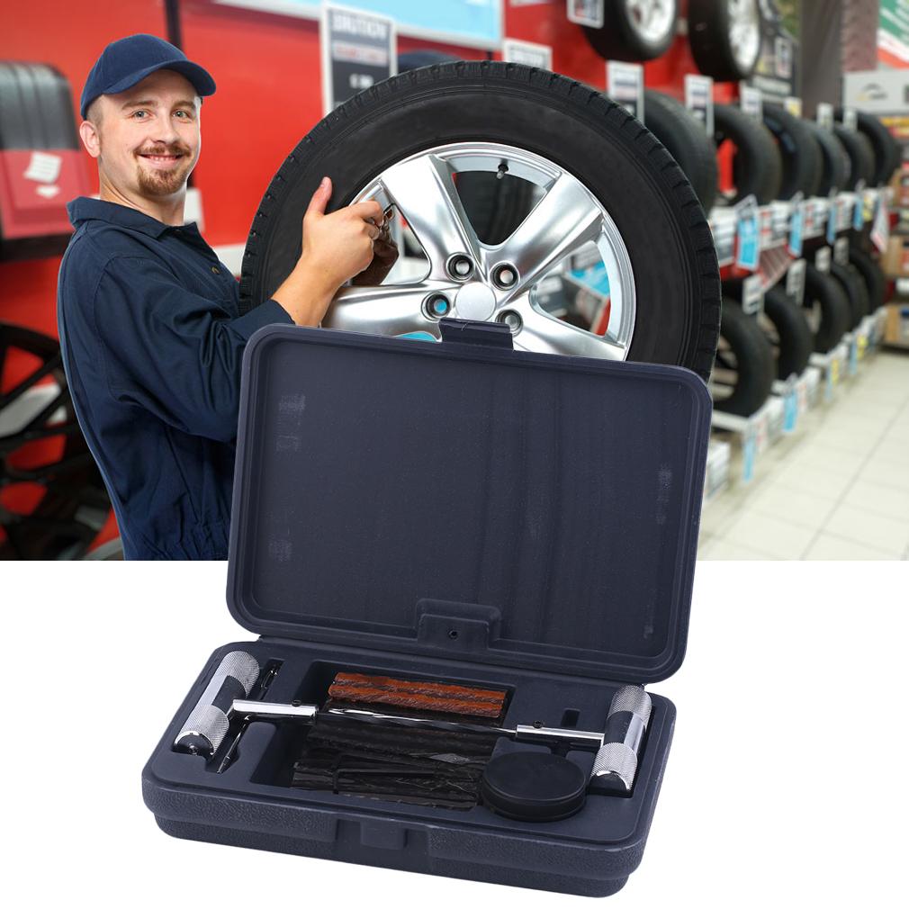40pcs tyre repair puncture set tire garage tool kit strip car motorcycle ebay. Black Bedroom Furniture Sets. Home Design Ideas