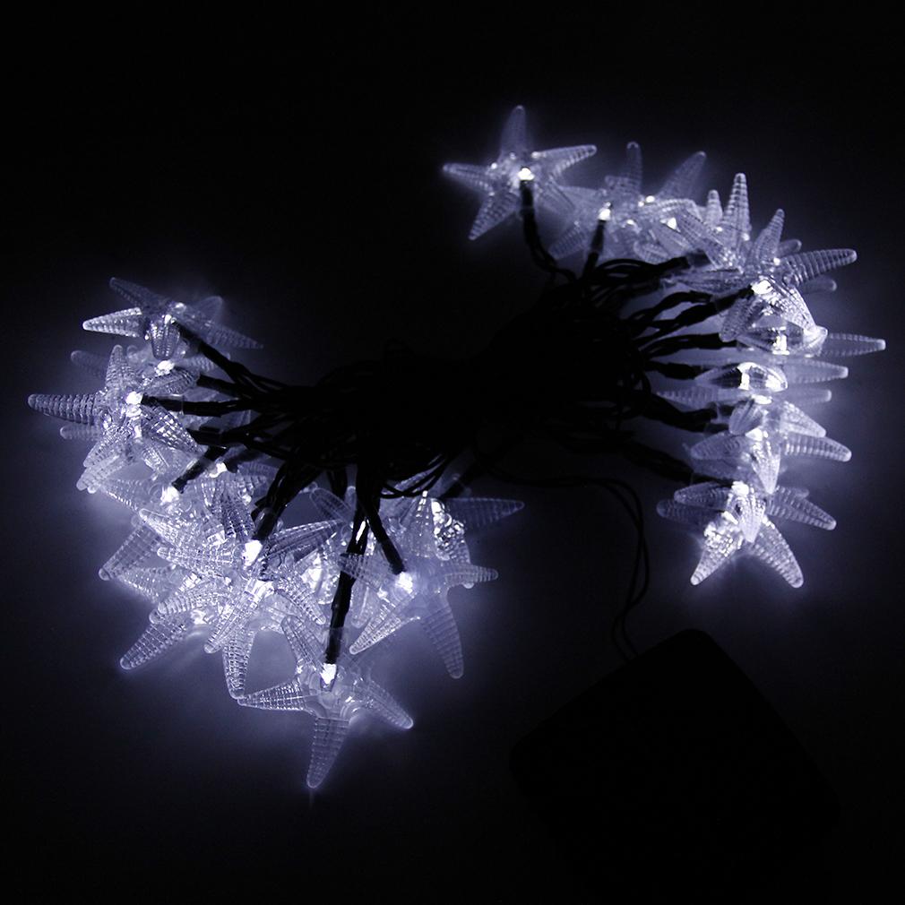 Large Led String Lights : LED Lights String Outdoor Lights Solar String Large Starfish Shaped Covers PB eBay