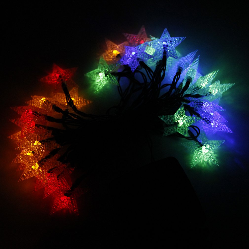 LED Star Lights String Outdoor Lights Solar String Large Star Shaped Covers PB eBay