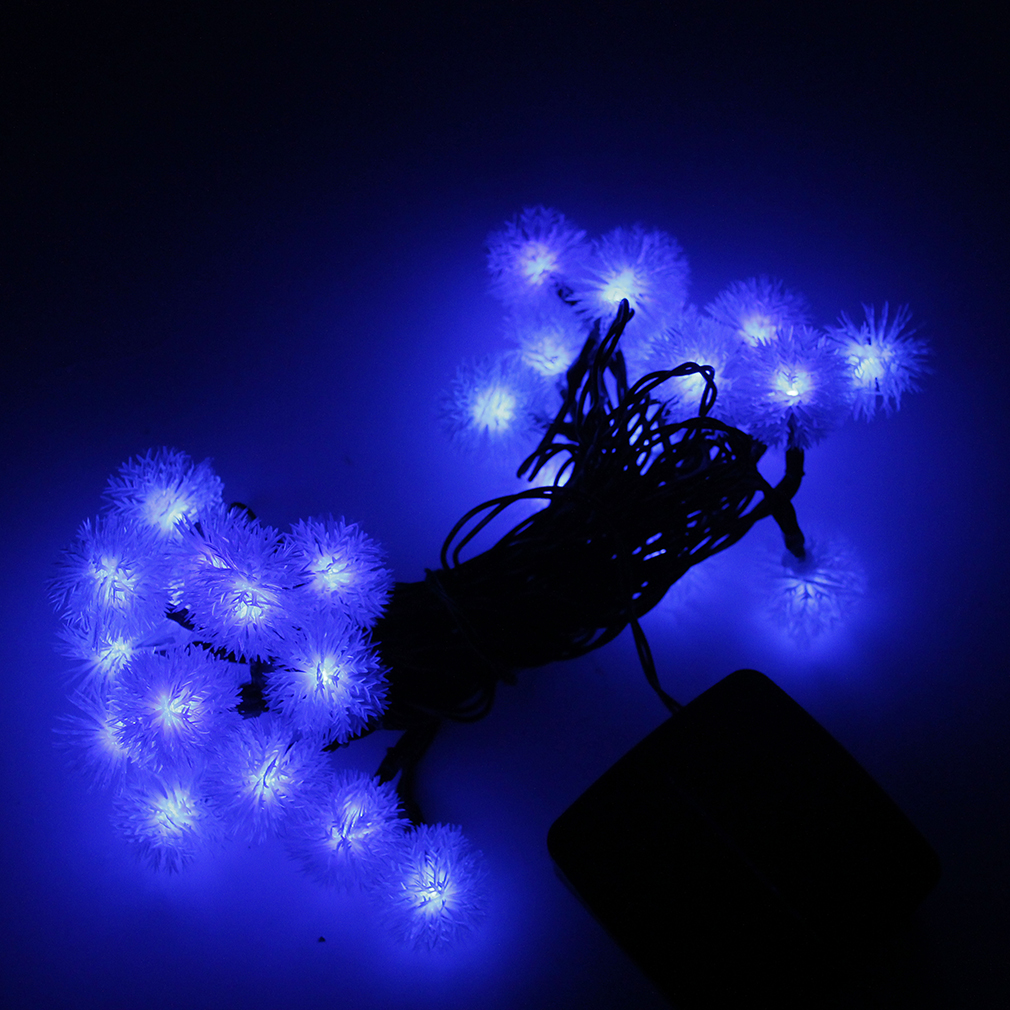 LED Lights String Outdoor Lights Solar String Large Chuzzle Ball Shaped PB eBay