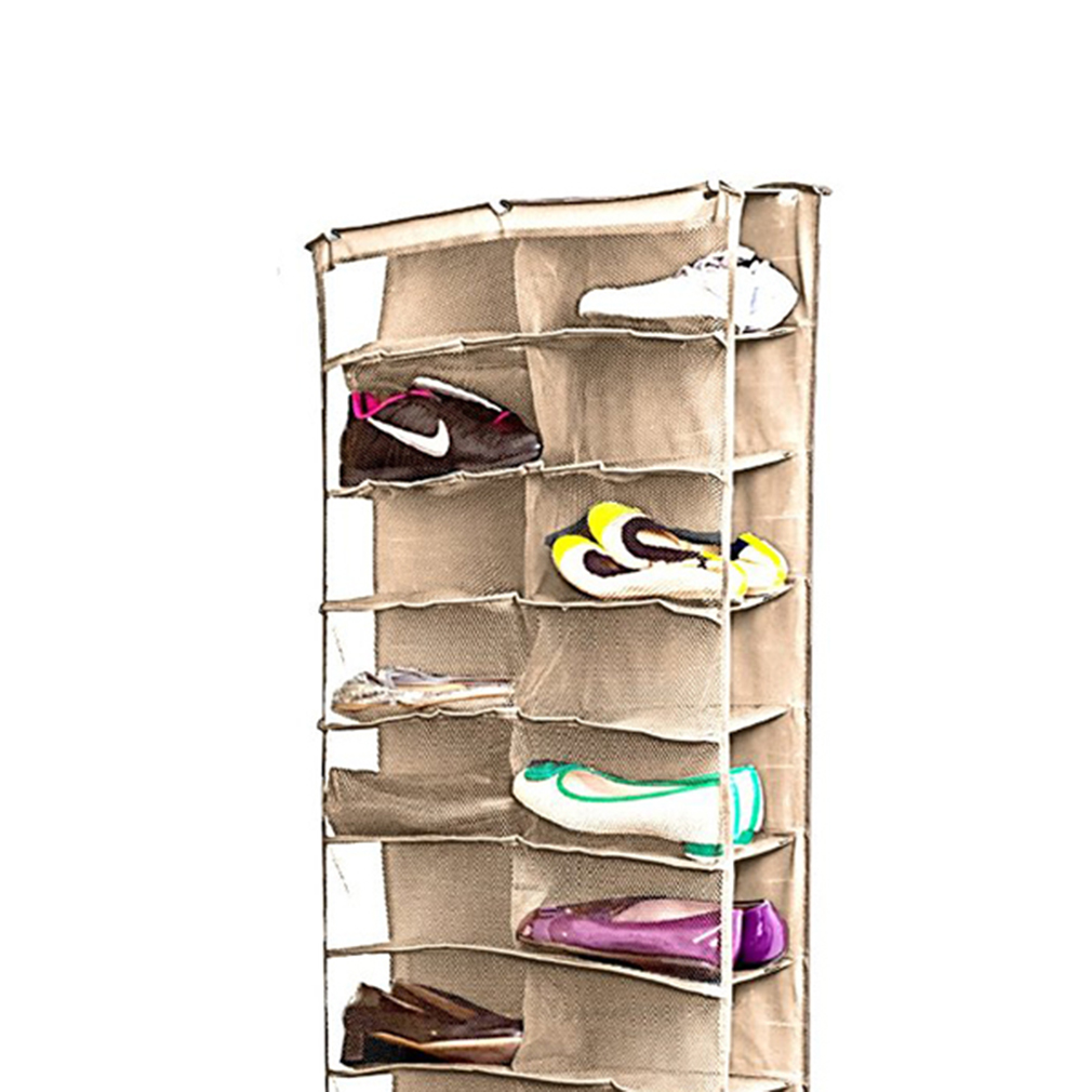 Shoe rack storage organizer holder folding hanging door for Door organizer