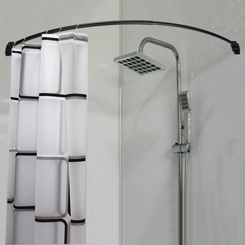 Adjustable Curved Shower Curtain Rod Bath Tub Accessory Oil Rubbed Bronze Usawp Ebay