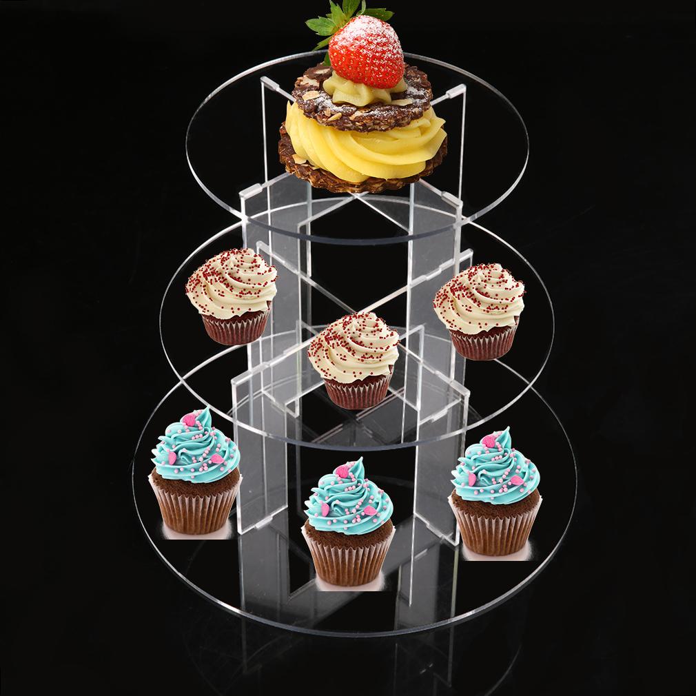 tortenst nder acryl etagere hochzeit party 3 etagen hochzeitstorte muffinst nder ebay. Black Bedroom Furniture Sets. Home Design Ideas