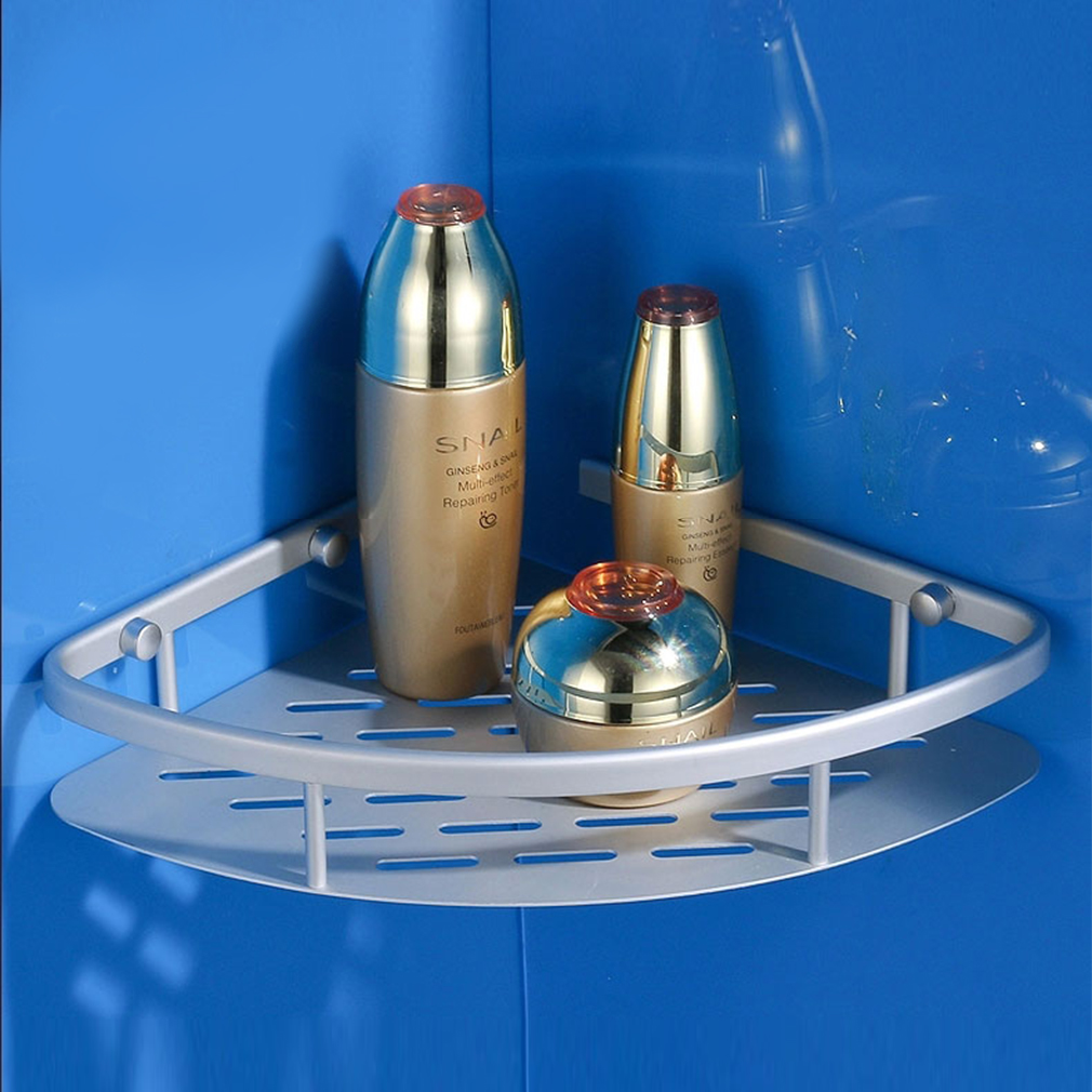 aluminium eckregal duschablage 1 2 3 ablage badregal mit haken badzimmer dusche ebay. Black Bedroom Furniture Sets. Home Design Ideas