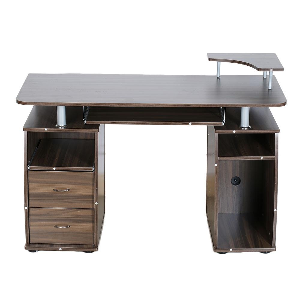 computer pc desk work station office home monitor printer. Black Bedroom Furniture Sets. Home Design Ideas