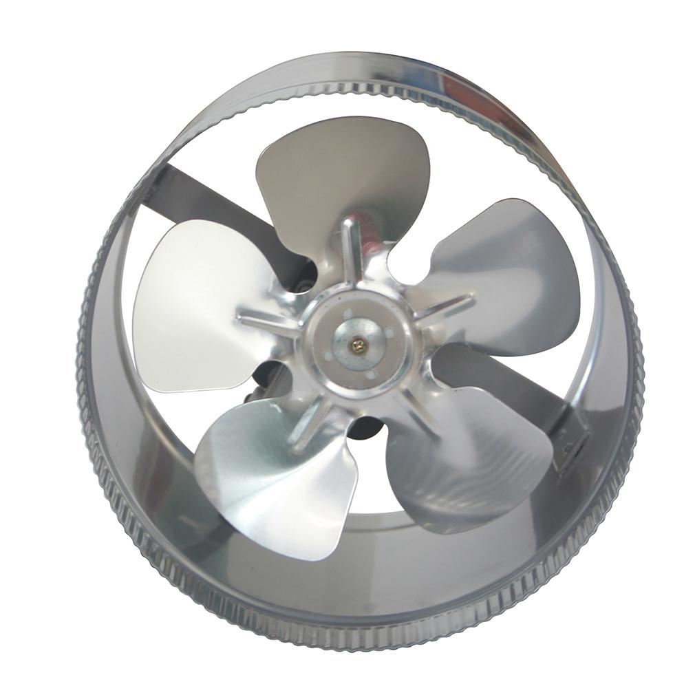 Quot inline duct fan cfm booster exhaust blower aluminum