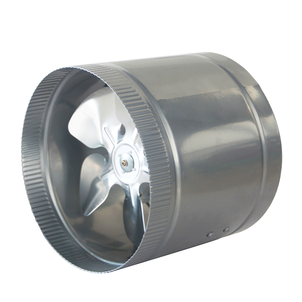 High Flow Vent Fan : Quot inline duct fan cfm booster exhaust blower aluminum