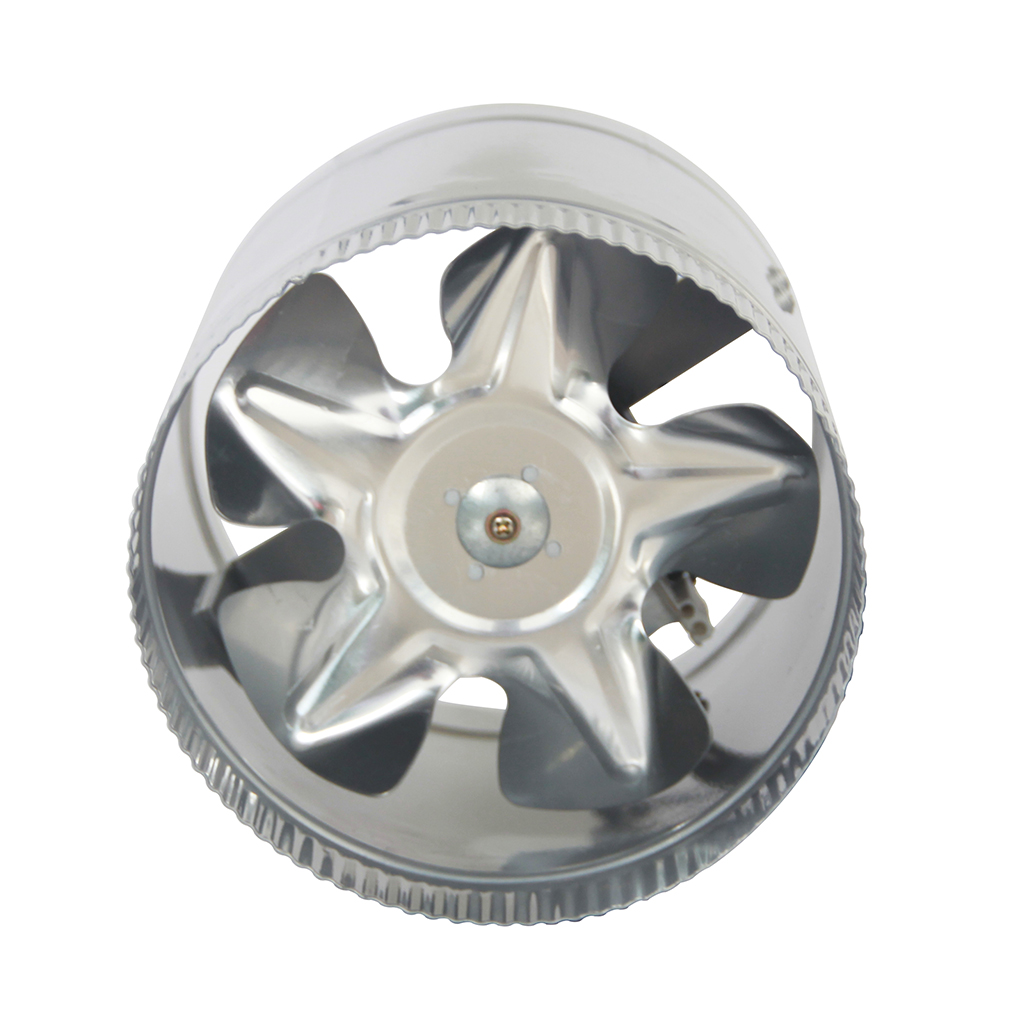 Stainless Steel 6 Inch Inline Fan : Quot inch booster fan inline blower exhaust ducting vent for