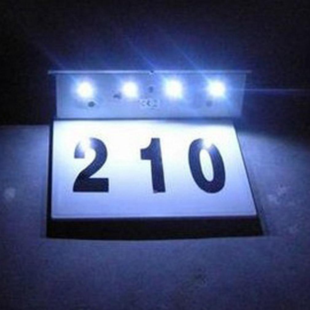 solar hausnummer beleuchtung hausnummernleuchte beleuchtet. Black Bedroom Furniture Sets. Home Design Ideas