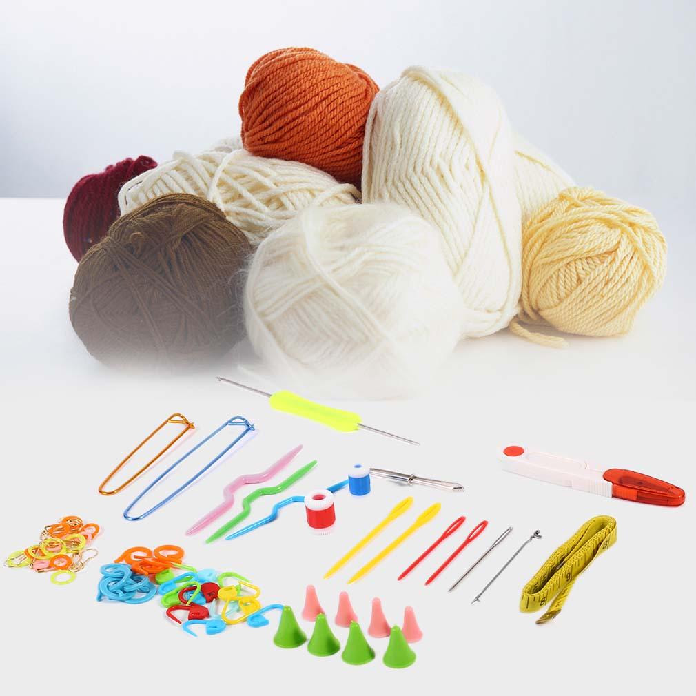 Knitting Tools Kit : Knitting tools kit crochet hooks needles stitches scissors
