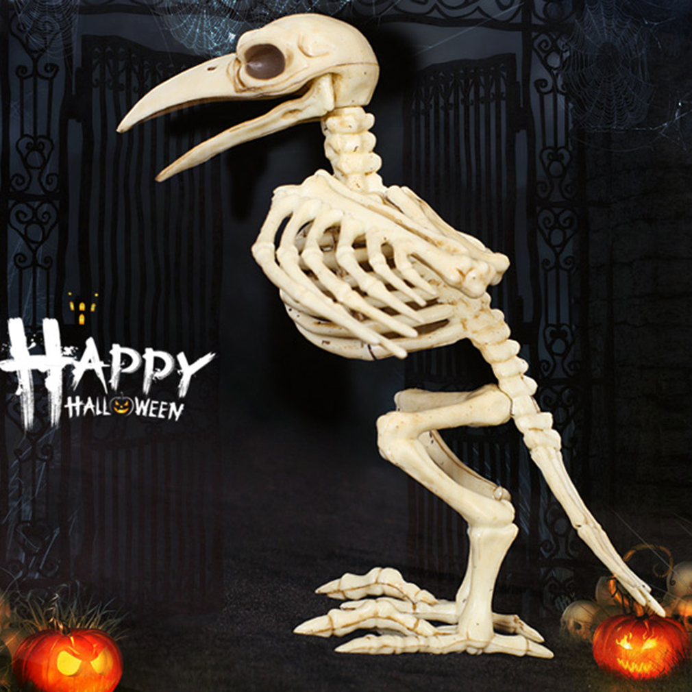 Skeleton raven plastic animal skeleton bones for horror for Bag of bones halloween decoration