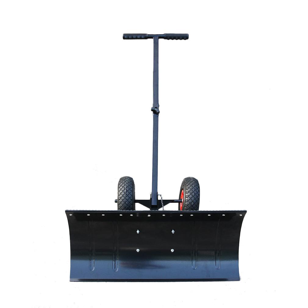 schneeschieber schneeschaufel schneeschild schneeplfug mit r dern rollen wz ebay. Black Bedroom Furniture Sets. Home Design Ideas
