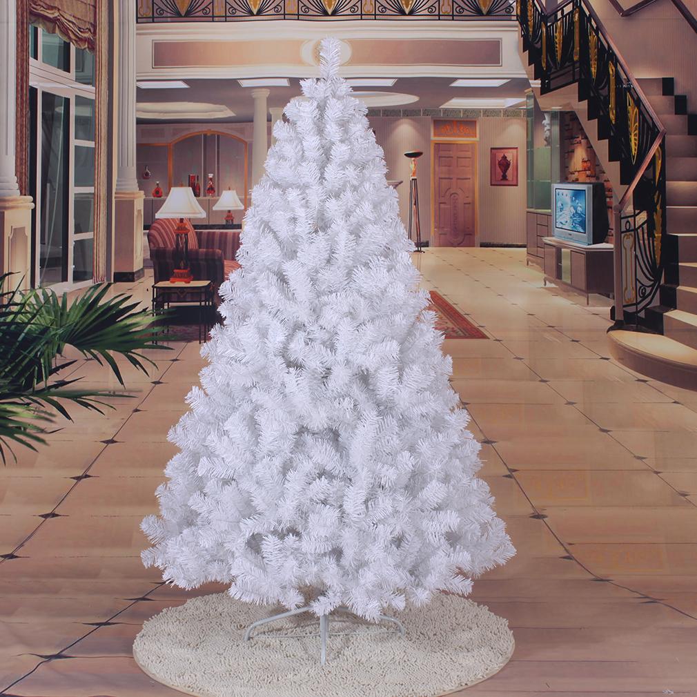 Weiss k nstlicher weihnachtsbaum baum tannenbaum tanne for Arbre artificiel exterieur pas cher