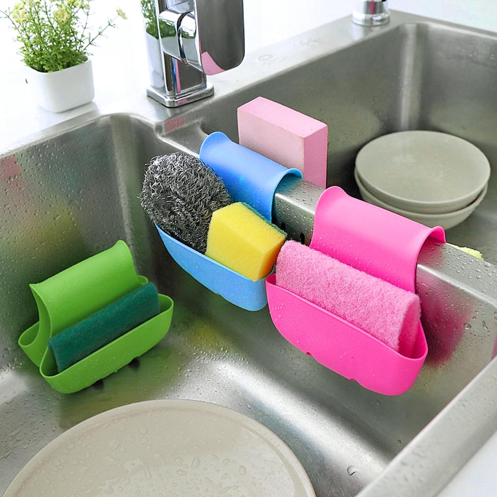 Kitchen Sink Sponge Holder: Dual Sink Caddy Saddle Style Kitchen Organizer Storage