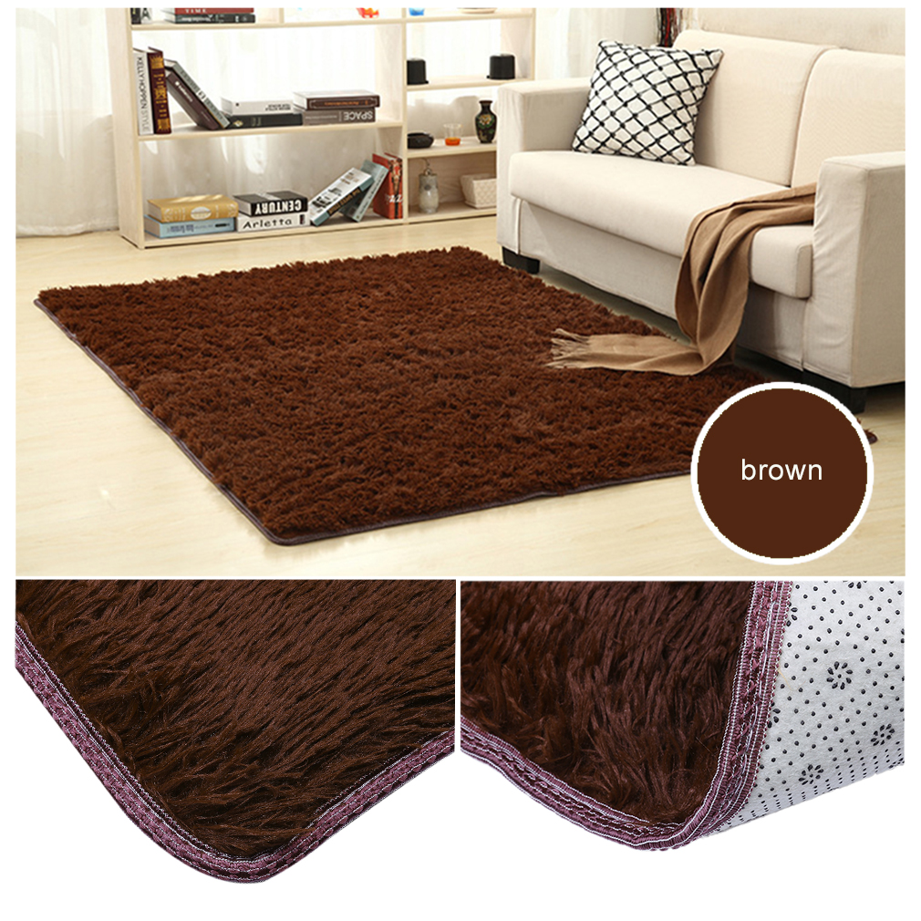 Large Size Fluffy Rugs Anti-Skid Shaggy Area Rug Dining