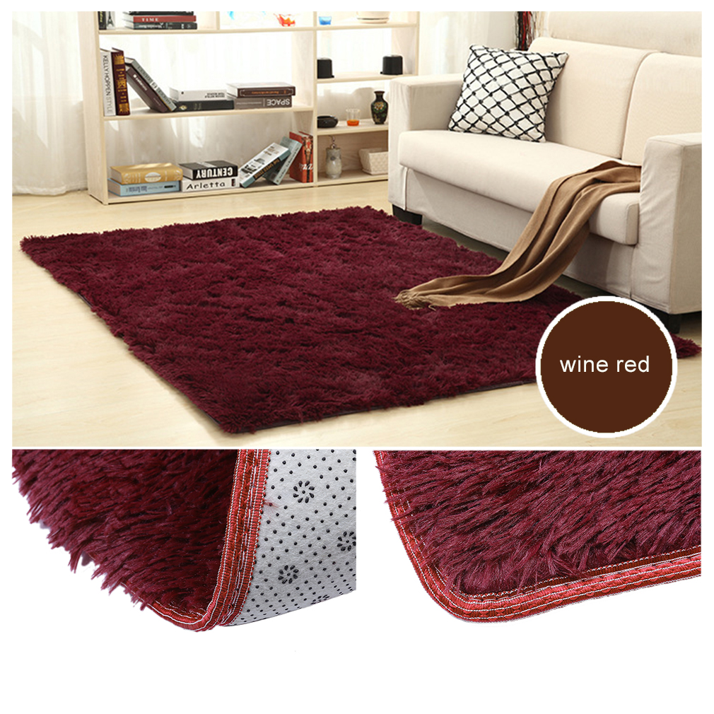 large size fluffy rugs anti skid shaggy area rug dining room carpet