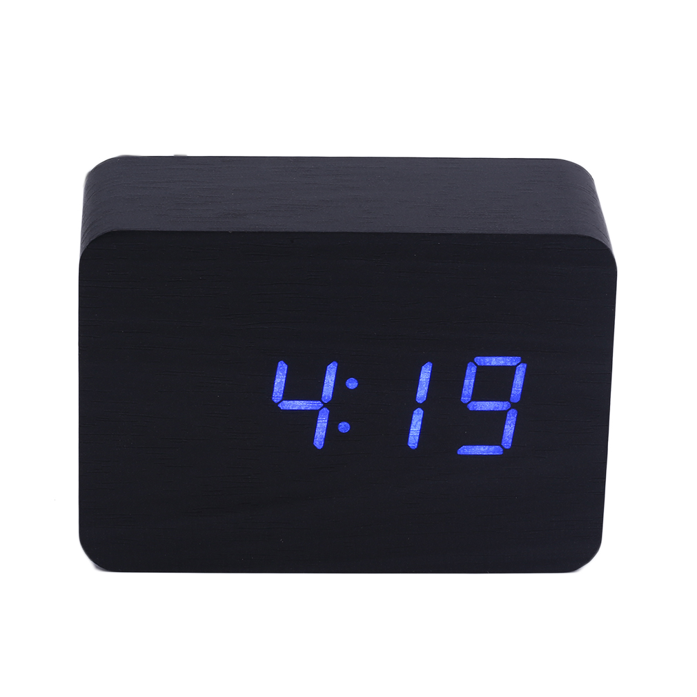 modern wooden wood usbaaa digital led alarm clock calendar  - this is a multifunctional wooden digital clock with big number display thewood alarm clock can display date time temperature