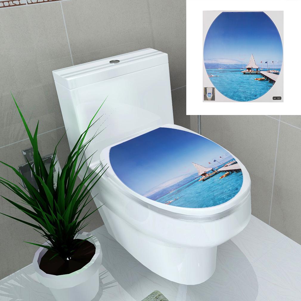 PVC Toilet Seat Sticker Waterproof Removable Wall Sticker Poster ...