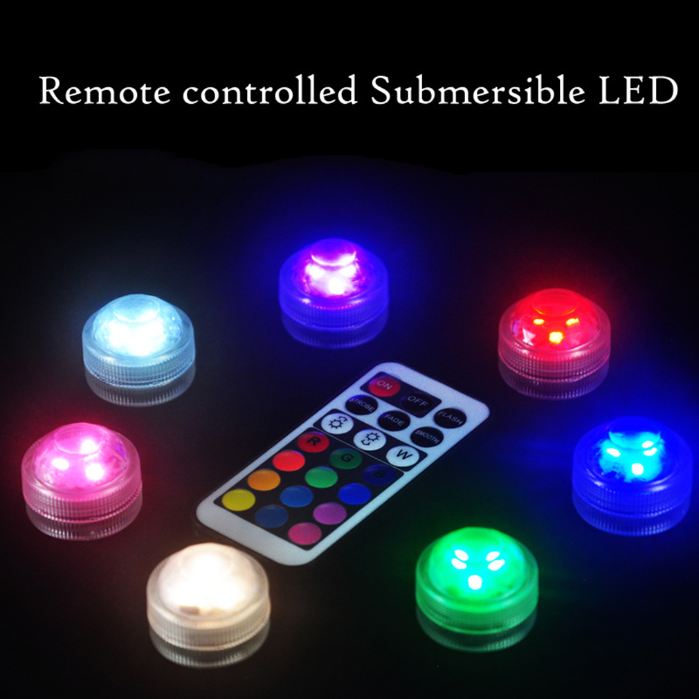 10pcs Led Submersible Waterproof Round Candles Lights