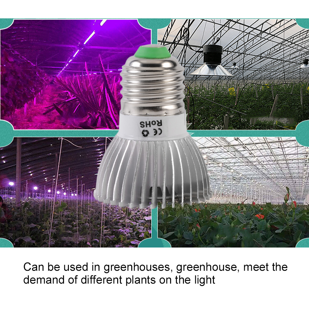 led plant grow light e27 hydroponics for indoor greenhouse flower grow box f5. Black Bedroom Furniture Sets. Home Design Ideas