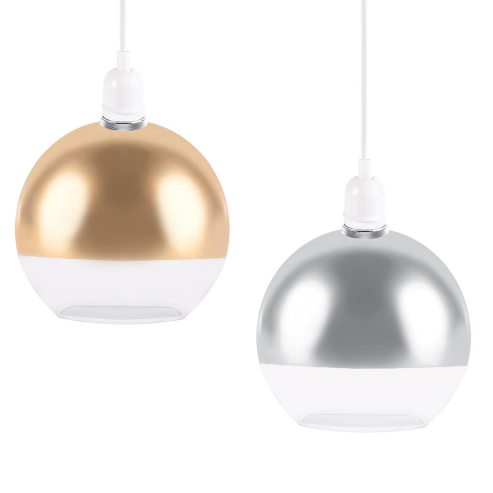 Modern Chrome Glass Round Globe Ceiling Pendant Light Lamp