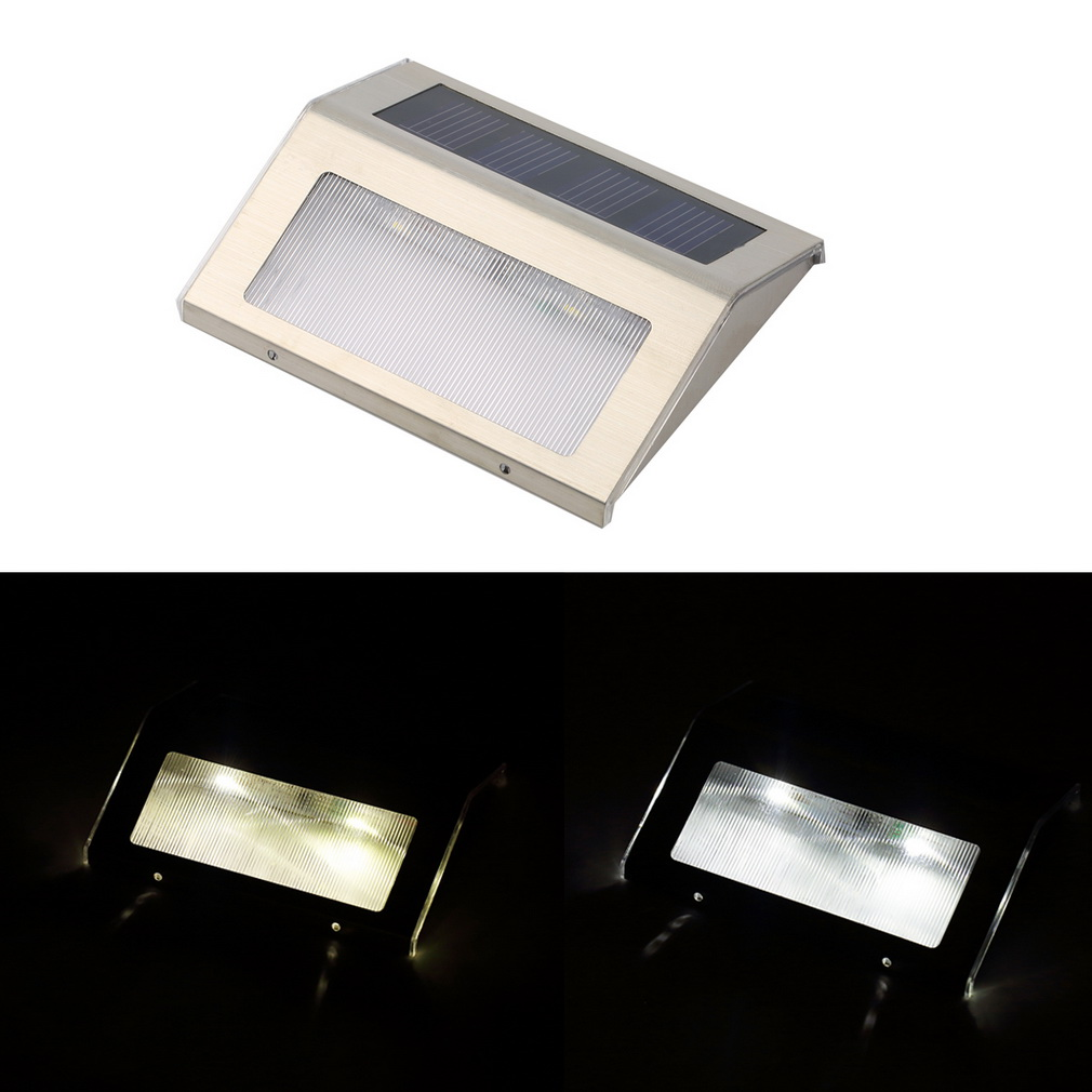 Frostfire Solar Wall Lights : LED Solar Power Path Stair Outdoor Light Garden Yard Fence Wall Landscape Lamp B eBay
