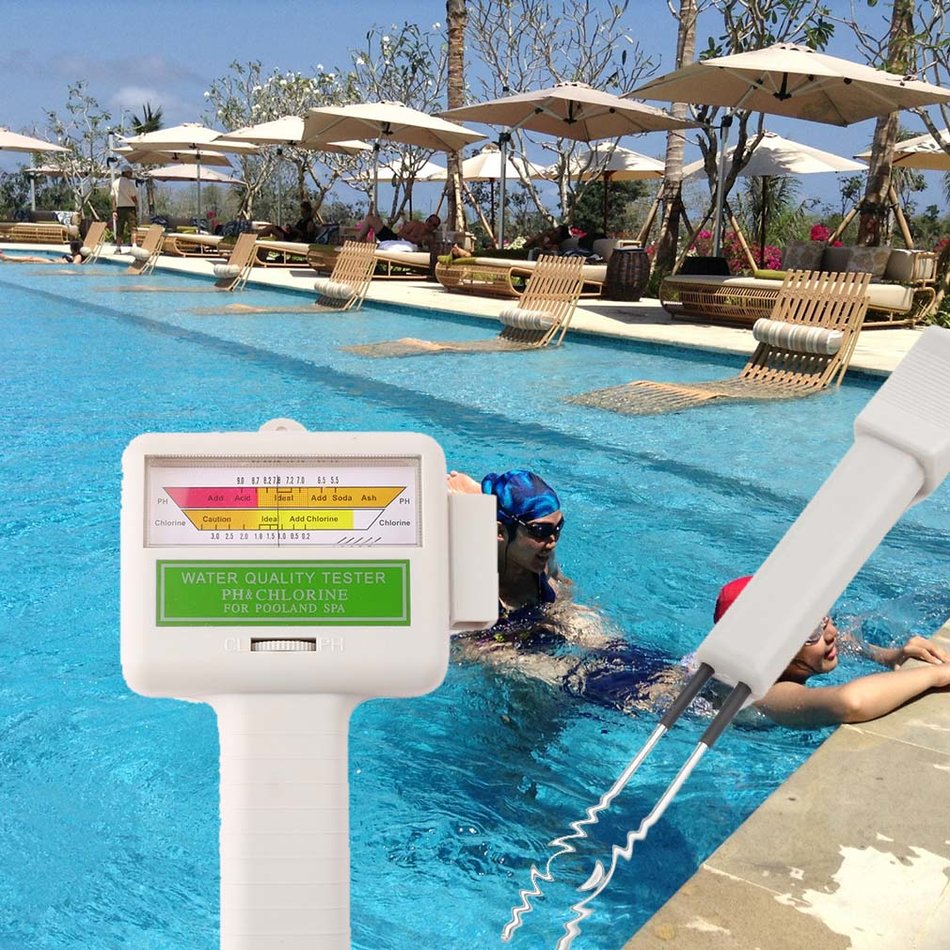 New Ph Cl2 Chlorine Level Tester Swimming Pool Spa Water Quality Monitor Ea Ebay