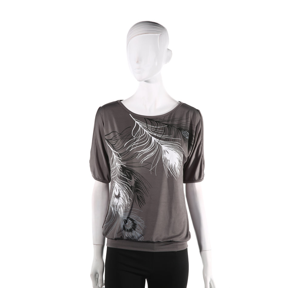 Ladies trendy loose top short sleeve blouse casual for Trendy t shirts for ladies
