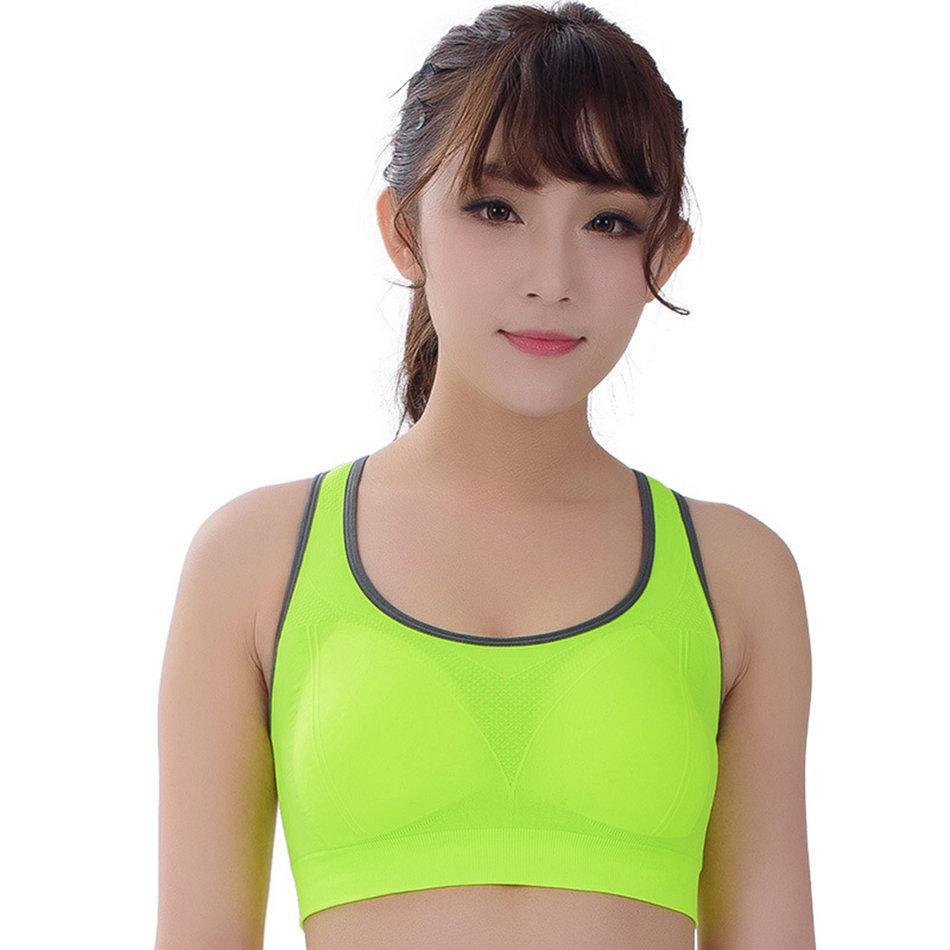 Candy Color No Rims Shockproof Womens Sport Push Up Bras ...