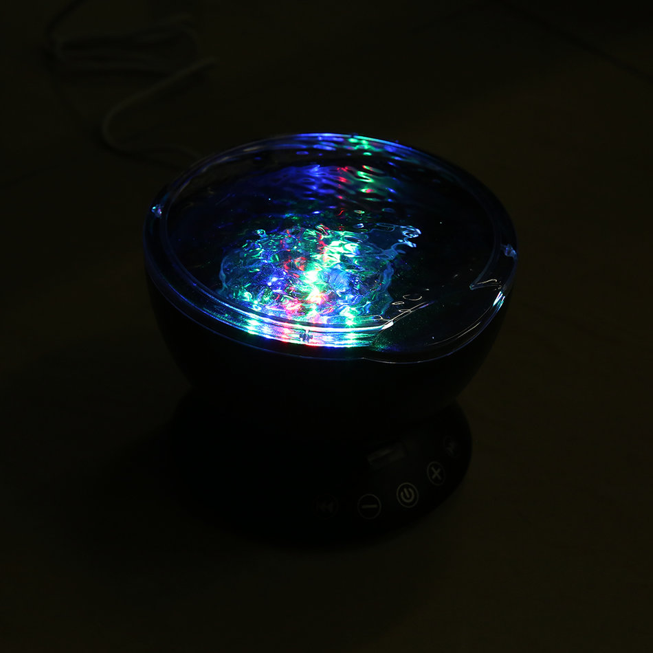 Ocean wave projector light with remote control tf card music play night light mr ebay - Remote control night light ...