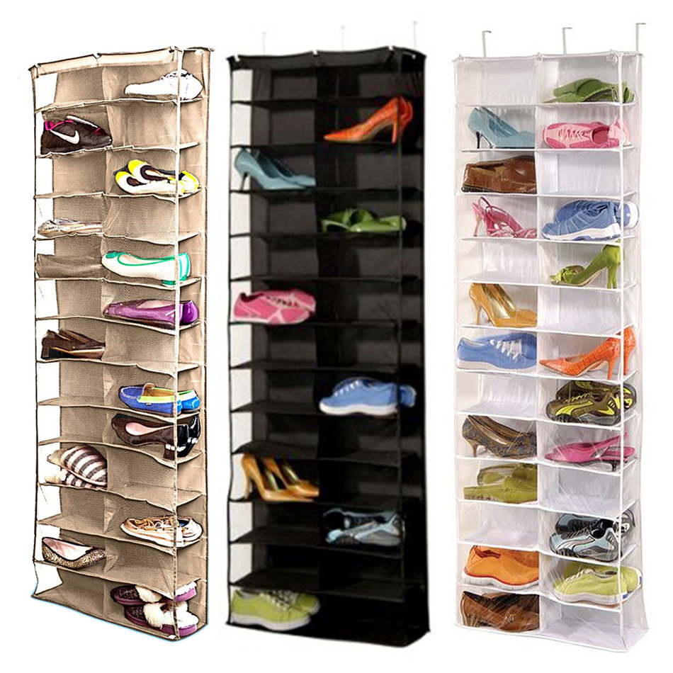 Shoe rack storage organizer holder folding hanging door for Door shoe organizer