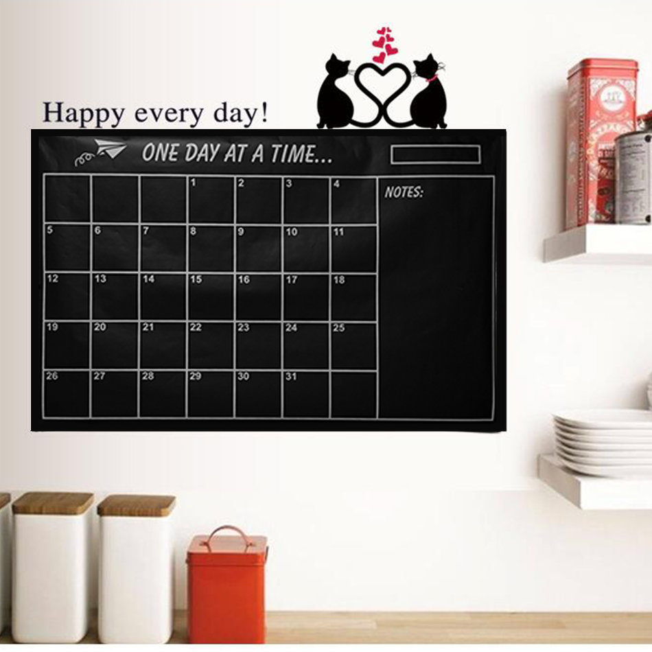 Non Toxic Monthly Calendar Wall Stickers Decal Removable Art Diy Home Decor Zm Ebay
