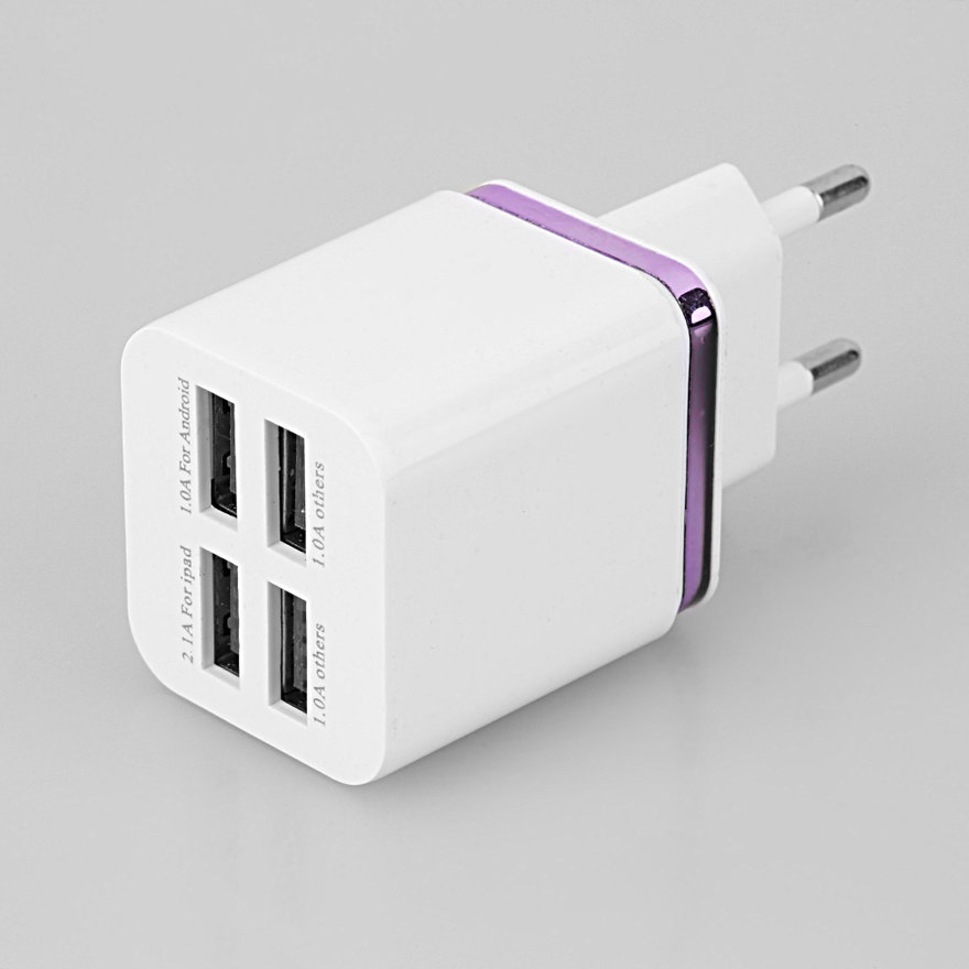 universal 4 ports usb travel wall charger multi power. Black Bedroom Furniture Sets. Home Design Ideas