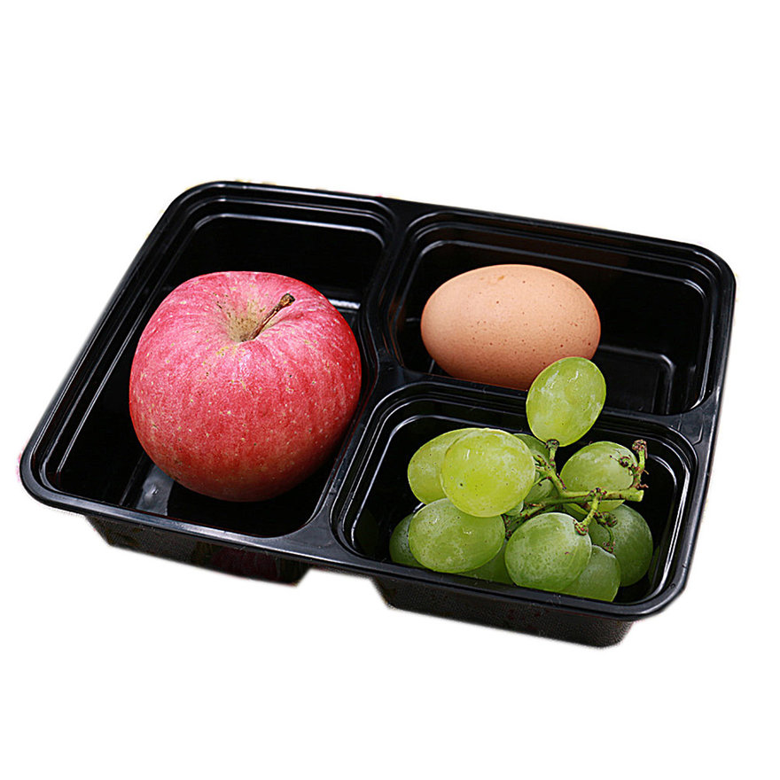 5/10 Pcs 3 Compartment Food Storage Containers With Lids ...