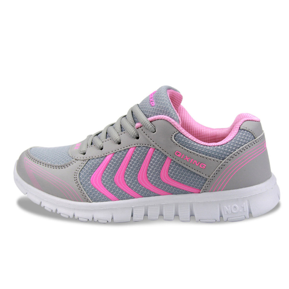 qixing fashion womens trainers sneakers breathable mesh