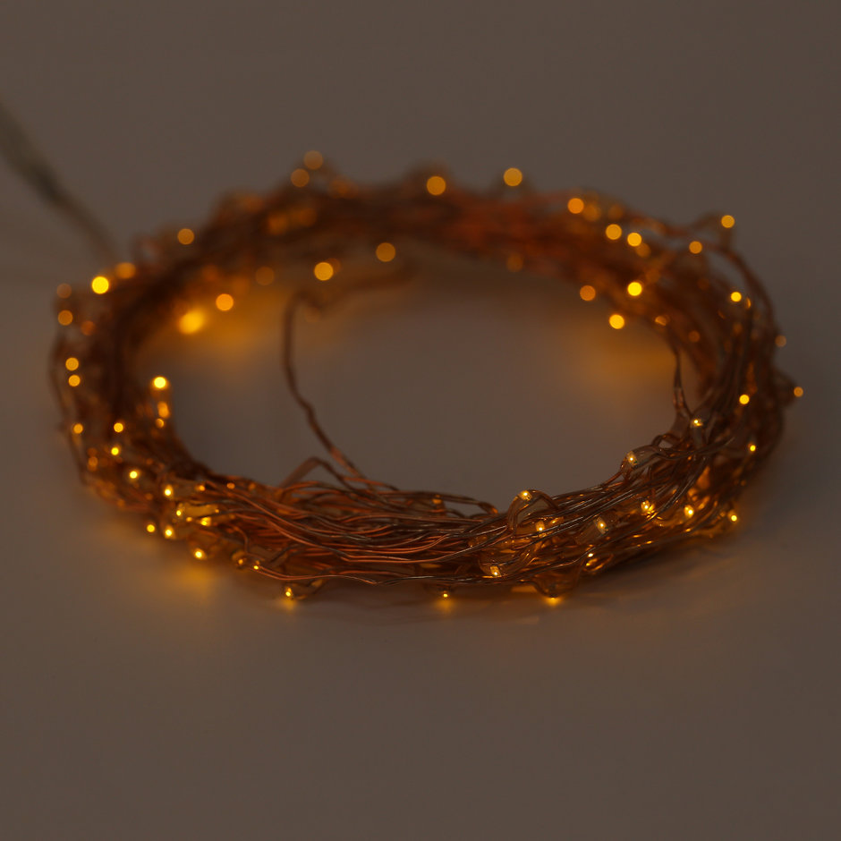 Solar Powered Warm White 6M 120LED Copper Wire Outdoor String Fairy Light GT eBay