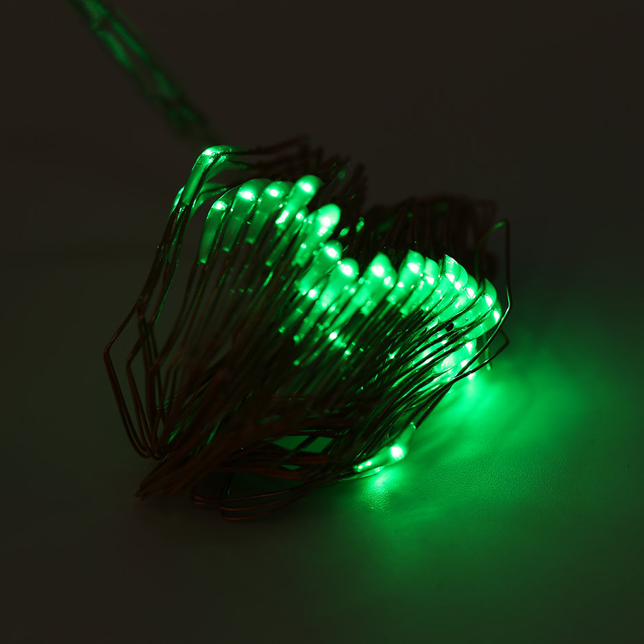 5M 50 LED String Lights Copper Wire With Remote Controller and Battery Box MR eBay