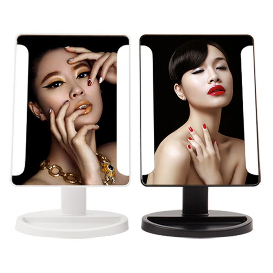 Swivel desktop makeup mirror 38pcs led beauty facial for Beauty mirror
