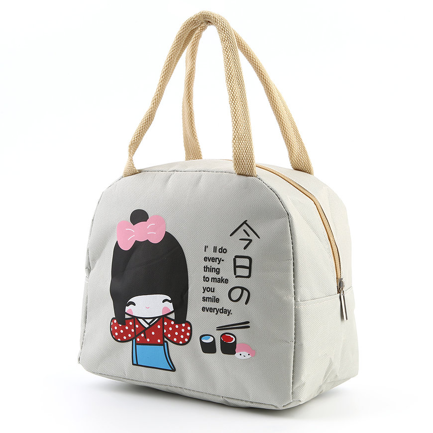 portable japanese girl bento lunch boxes large bag insulation storage bag fe ebay. Black Bedroom Furniture Sets. Home Design Ideas