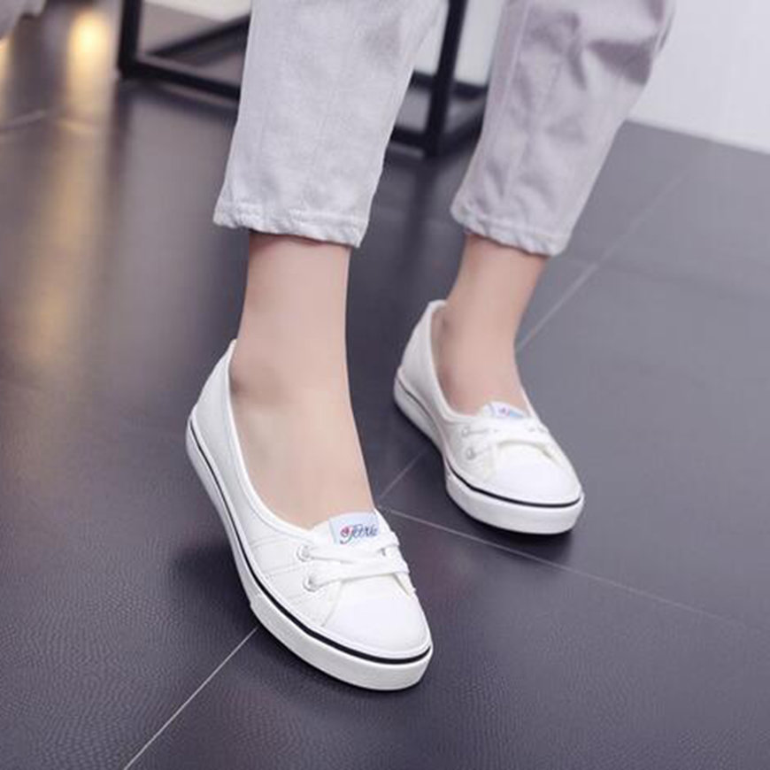 Womens Flat Shoes - Fashion Ladies Slip-On Casual Boat Shoes