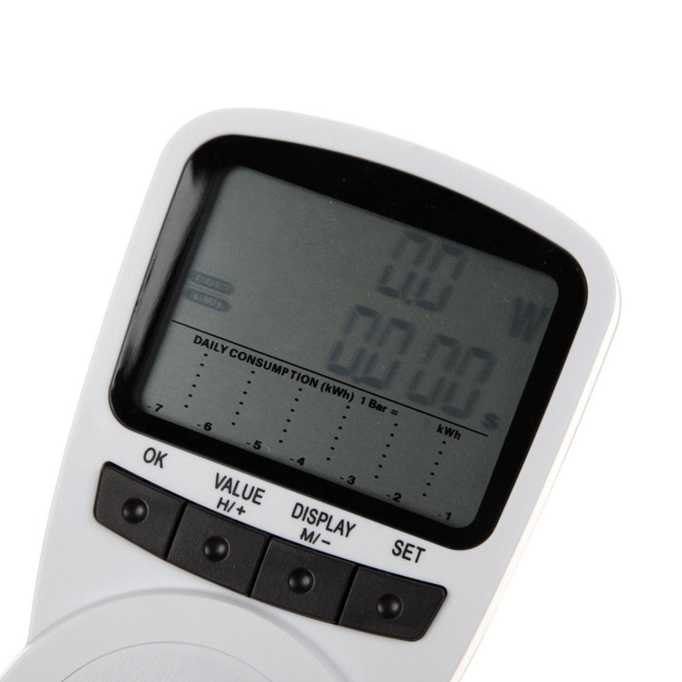 Outlet Wattage Meter : New smart digital programmable power consumption meter