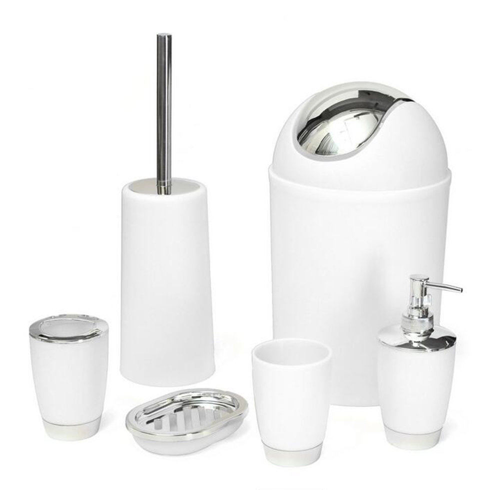 Bathroom Accessory Bin Soap Dish Dispenser Tumbler Toothbrush