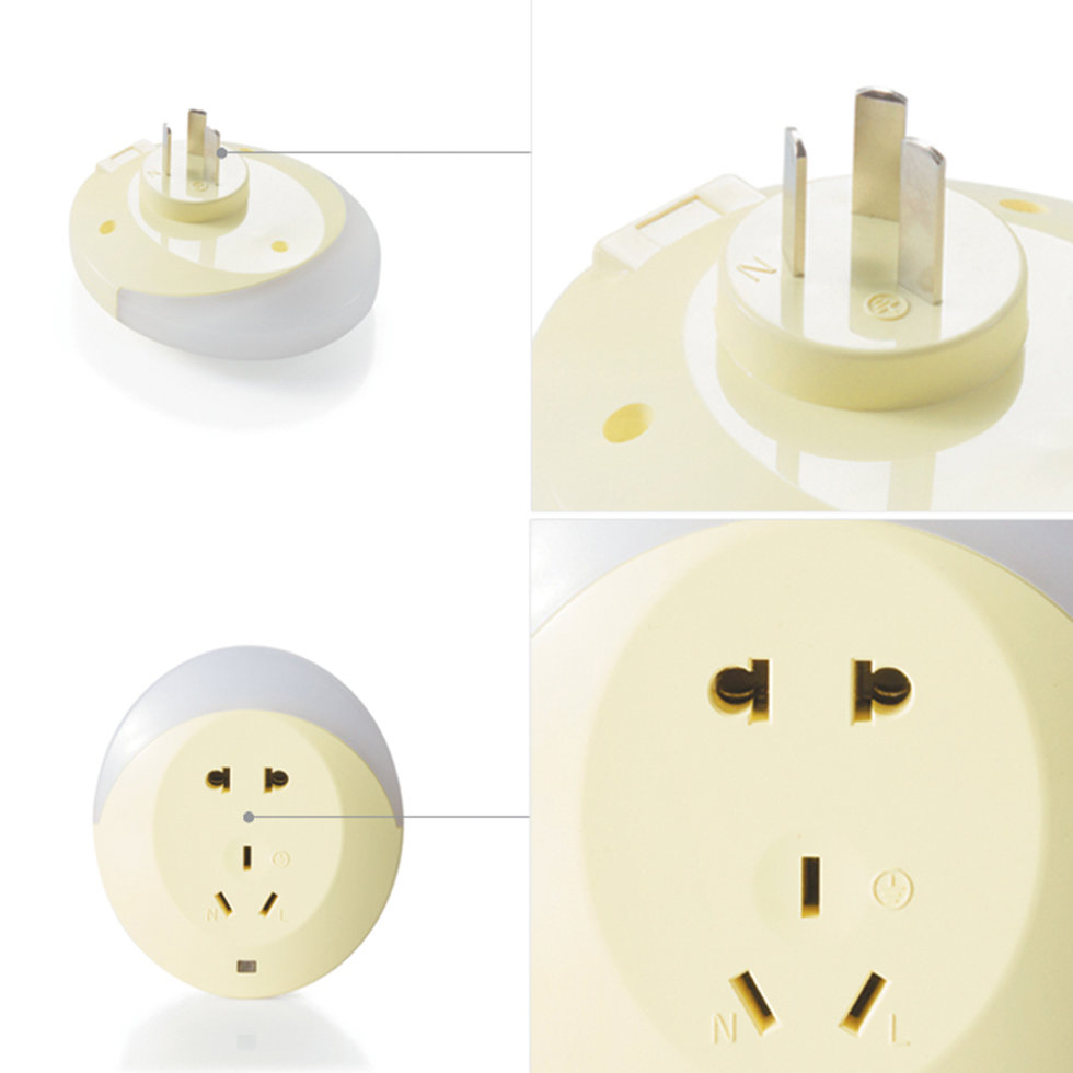 Wall Lamps That Plug Into A Socket : LED Light Sensor Plug Socket Night light Lamp Wall Mounting Night Light OL eBay