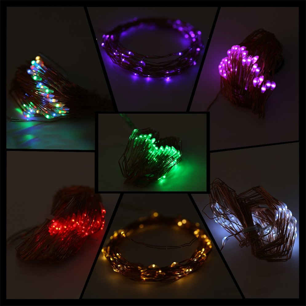 5M 50 LED String Lights Copper Wire With Remote Controller and Battery Box MC eBay