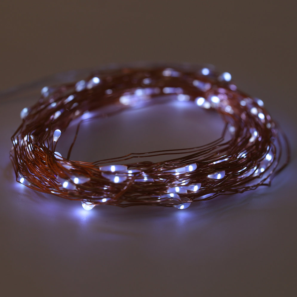 10M 100 LED String Lights Copper Wire With Remote Controller and Battery Box MC eBay