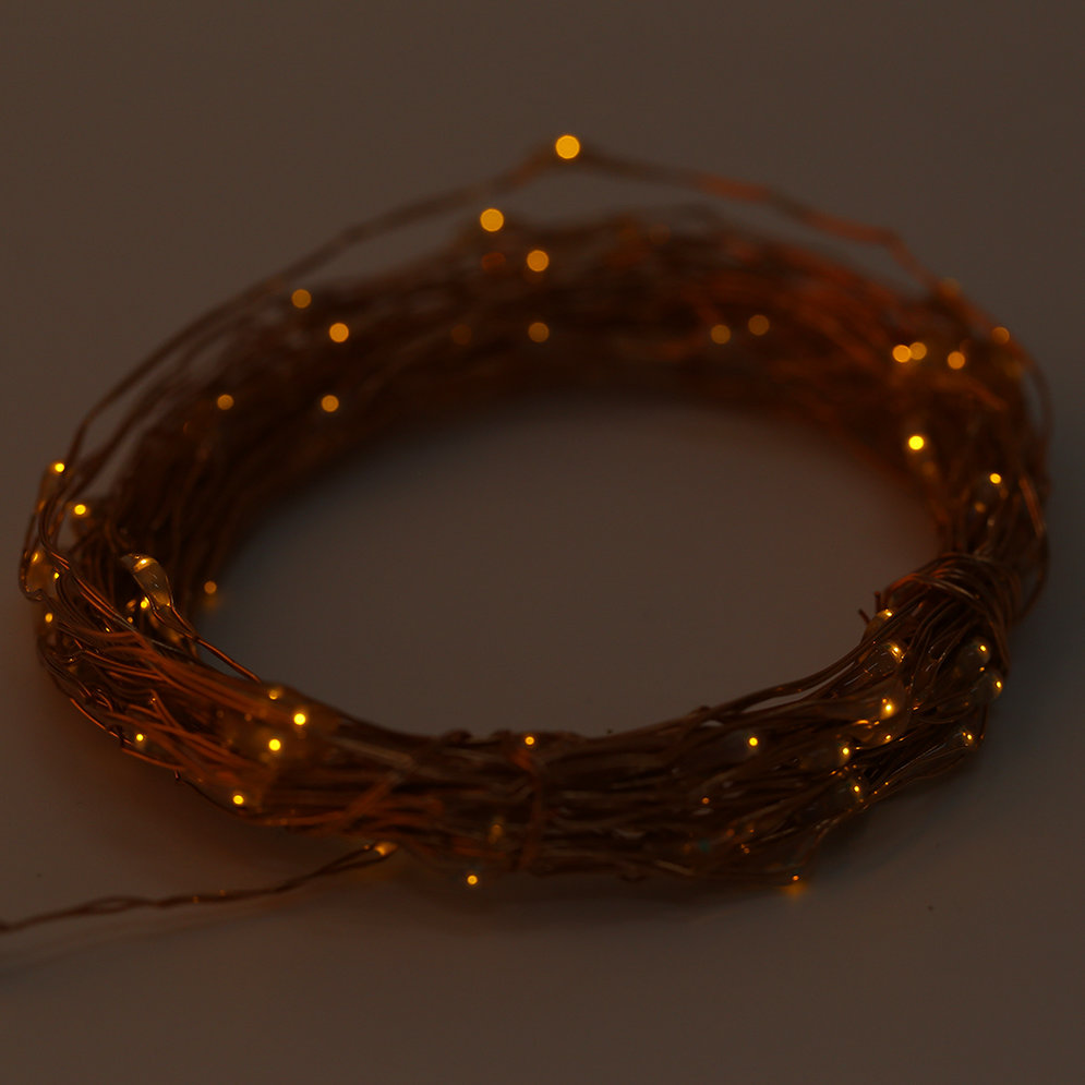 String Lights With Remote : 10M 100 LED String Lights Copper Wire With Remote Controller and Battery Box MC eBay